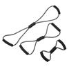 "Rehabilitation: Fabrication Enterprises - CanDo® Tubing BowTie™ Exerciser - 3-Piece Set (14"", 22"", 30""), Black"