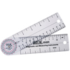 Fabrication Enterprises Baseline® Plastic Goniometer - Rulongmeter Style - 360 Degree Head - 6 Arms FNT 12-1006