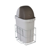 Fabrication Enterprises Detecto, Waste Bin with Accessory Rail for Rescue Cart FNT 12-2405