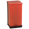 Fabrication Enterprises Detecto, Step-On Can, 100 Qt, Red FNT12-2440