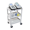 utility carts, trucks and ladders: Fabrication Enterprises - Mettler® 73 Plastic 3-Shelf Cart
