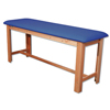 Fabrication Enterprises Classic H-Brace Exam Table Dark Blue FNT15-1006DB
