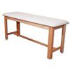 Fabrication Enterprises Classic H-Brace Exam Table White FNT 15-1006W