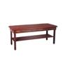 Fabrication Enterprises Wooden Treatment Table - H-Brace, Shelf, Upholstered, 72 L X 24 W X 30 H FNT 15-1020