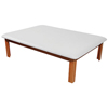 Clean and Green: Fabrication Enterprises - Mat Platform Table 4 1/2 x 6 ft. White