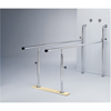 Fabrication Enterprises Parallel Bars, Wall-Mounted, Wood Base, Folding, Height Adjustable, 7' L x 22.5