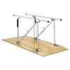 Fabrication Enterprises Parallel Bars, wood platform mounted, height adjustable, 12 L x 22.5 W x 31 - 41 H FNT 15-4042