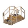 Fabrication Enterprises Training stairs, straight, 8 steps with platform, 96 L x 36 W x 60 H FNT 15-4203