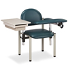 Fabrication Enterprises Clinton, SC Series Phlebotomy Chair, Padded Arms, Drawer FNT 15-4513