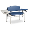 Fabrication Enterprises Clinton, SC Series Phlebotomy Chair, Extra-Wide, Padded Flip Arms, Drawer FNT 15-4514