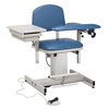 Fabrication Enterprises Clinton, Power Series Phlebotomy Chair, Padded Flip Arm, Drawer FNT 15-4516