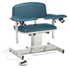 Fabrication Enterprises Clinton, Power Series Phlebotomy Chair, Extra-Wide, Padded Arms FNT 15-4517