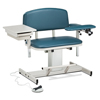 Fabrication Enterprises Clinton, Power Series Phlebotomy Chair, Extra-Wide, Padded Flip Arm, Drawer FNT 15-4518