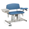Fabrication Enterprises Clinton, Power Series Phlebotomy Bariatric Chair, Padded Flip Arm, Drawer FNT 15-4520