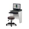 Fabrication Enterprises Clinton, Wall Mounted Computer Desk, 2-Leg FNT 15-4622