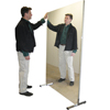 Fabrication Enterprises Glassless Mirror, Stationary With Stand, Horizontal,  72 W X 36 H FNT 19-1003