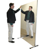Fabrication Enterprises Glassless Mirror, Stationary With Stand, Vertical, 36 W X 72 H FNT 19-1006