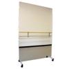 Fabrication Enterprises Glassless Mirror, Mobile Caster Base, Vertical, 48 W X 96 H FNT 19-1019