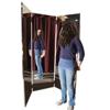 Fabrication Enterprises Glassless mirror, free-standing, triple panel, 24 W x 72 H FNT 19-1052