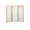 Fabrication Enterprises Glass mirror, mobile caster base, 3-panel mirror, 28 W x 75 H FNT 19-1103
