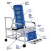 Fabrication Enterprises MJM International, Tilt Shower Chair (18.5), Square Pail FNT 20-4272