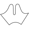 Fabrication Enterprises Orfit Colors NS Precuts, Gauntlet Thumb Post Splint, 1/12 Micro Perforated 13%, Dominant Black, Medium, Case Of 2 FNT 24-5837-2