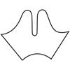 Fabrication Enterprises Orfit Colors NS Precuts, Gauntlet Thumb Post Splint, 1/12 Micro Perforated 13%, Dominant Black, Large FNT 24-5838-1