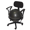 "Rehabilitation: Fabrication Enterprises - CanDo® Ball Chair - Metal - Mobile - with Back - with Arms - with 18"" Ball"