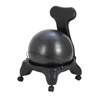 "Rehabilitation: Fabrication Enterprises - CanDo® Ball Chair - Plastic - Mobile - with Back - Adult Size - with 20"" Ball"