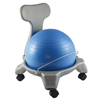 """Rehabilitation: Fabrication Enterprises - CanDo® Ball Chair - Plastic - Mobile - with Back - Child Size - with 15"""" Ball"""