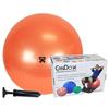 "Diabetes Syringes Pump Sets: Fabrication Enterprises - CanDo® Inflatable Exercise Ball - Economy Set - Orange - 22"" (55 cm) Ball, Pump, Retail Box"