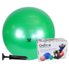 "IV Supplies Pump Sets: Fabrication Enterprises - CanDo® Inflatable Exercise Ball - Economy Set - Green - 26"" (65 cm) Ball, Pump, Retail Box"