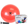 "IV Supplies Pump Sets: Fabrication Enterprises - CanDo® Inflatable Exercise Ball - Economy Set - Red - 30"" (75 cm) Ball, Pump, Retail Box"