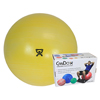 "Rehabilitation: Fabrication Enterprises - CanDo® Inflatable Exercise Ball - Extra Thick - Yellow - 18"" (45 cm), Retail Box"
