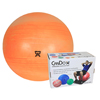 "Rehabilitation: Fabrication Enterprises - CanDo® Inflatable Exercise Ball - Extra Thick - Orange - 22"" (55 cm), Retail Box"