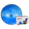 "Rehabilitation: Fabrication Enterprises - CanDo® Inflatable Exercise Ball - Extra Thick - Blue - 34"" (85 cm), Retail Box"