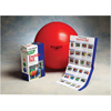 """Rehabilitation: Fabrication Enterprises - Thera-Band® Inflatable Exercise Ball - Pro Series SCP™ - Red - 22"""" (55 cm), Retail Box"""