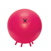 "Rehabilitation: Fabrication Enterprises - CanDo® Inflatable Exercise Ball - with Stability Feet - Red - 30"" (75 cm)"