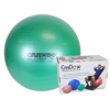 "Rehabilitation: Fabrication Enterprises - CanDo® Inflatable Exercise Ball - Super Thick - Green - 26"" (65 cm), Retail Box"