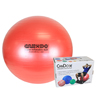 "Rehabilitation: Fabrication Enterprises - CanDo® Inflatable Exercise Ball - Super Thick - Red - 30"" (75 cm), Retail Box"
