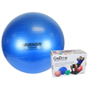 "Rehabilitation: Fabrication Enterprises - CanDo® Inflatable Exercise Ball - Super Thick - Blue - 34"" (85 cm), Retail Box"