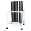 "Rehabilitation: Fabrication Enterprises - CanDo® Foam Roller - Accessory - Upright Storage Rack - 24"" W x 34"" D x 30"" H"