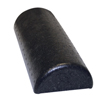 "Rehabilitation: Fabrication Enterprises - CanDo® Foam Roller - Black Composite - Extra Firm - 6"" x 12"" - Half-Round"