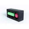 """Pitt Mini Rolls: Fabrication Enterprises - Blackroll® Block Set: 12""""X 6"""" X 4"""" Black Block, 6"""" X 2"""" Green Mini Roll, 3.2"""" Pink Ball"""