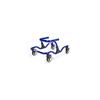 Fabrication Enterprises Moxie GT Gait Trainer, Medium, Warrior Blue FNT 31-3041B
