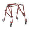 Fabrication Enterprises Nimbo posterior walker, young adult, Castle Red FNT 31-3653R