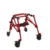 Fabrication Enterprises Klip Posterior Walker, Four Wheeled With Seat, Red, Size 2 FNT 32-2085