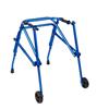 Fabrication Enterprises Klip Posterior Walker, Two Wheeled, Blue, Size 3 FNT 32-2086