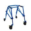 Fabrication Enterprises Klip Posterior Walker, Four Wheeled, Blue, Size 3 FNT 32-2087
