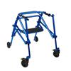 Fabrication Enterprises Klip Posterior Walker, Four Wheeled With Seat, Blue, Size 3 FNT 32-2088